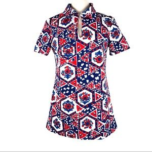 Cute vintage 70's tunic top shirt